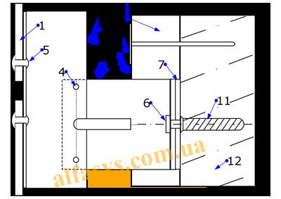 ламинатная панель на заклепочной фасадной системе