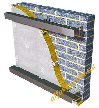 Оцинкованная подсистема вентилируемого фасада облегченная
